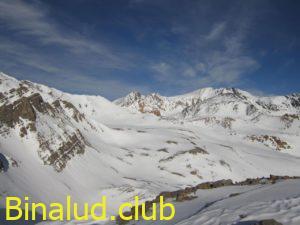نمای کلی از مسیر پیمایش شده تا امروز قله علم کوه، خط الراس خرسانها و ویران کوه و ...
